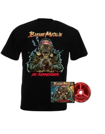 """BANANE METALIK - """"No Surrender"""" pack CD & men T-shirt"""