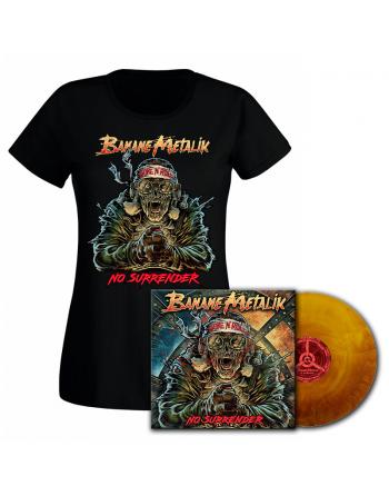 """BANANE METALIK - """"No Surrender"""" pack Vinyl & T-shirt femme"""