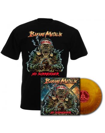 "BANANE METALIK - ""No Surrender"" pack Vinyl & men T-shirt"